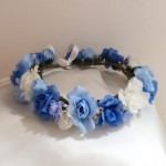 バラのサムシングブルー花かんむり