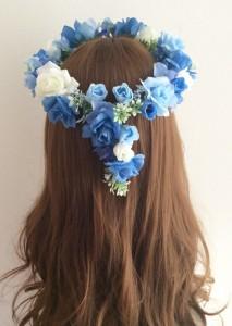 青い花かんむり後ろ3