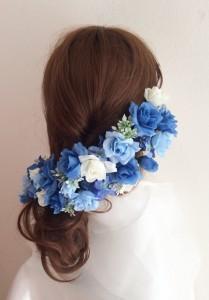 花かんむり髪型サイドアップ