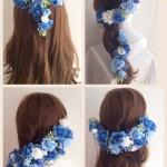 花かんむりの髪型カタログ(結婚式)