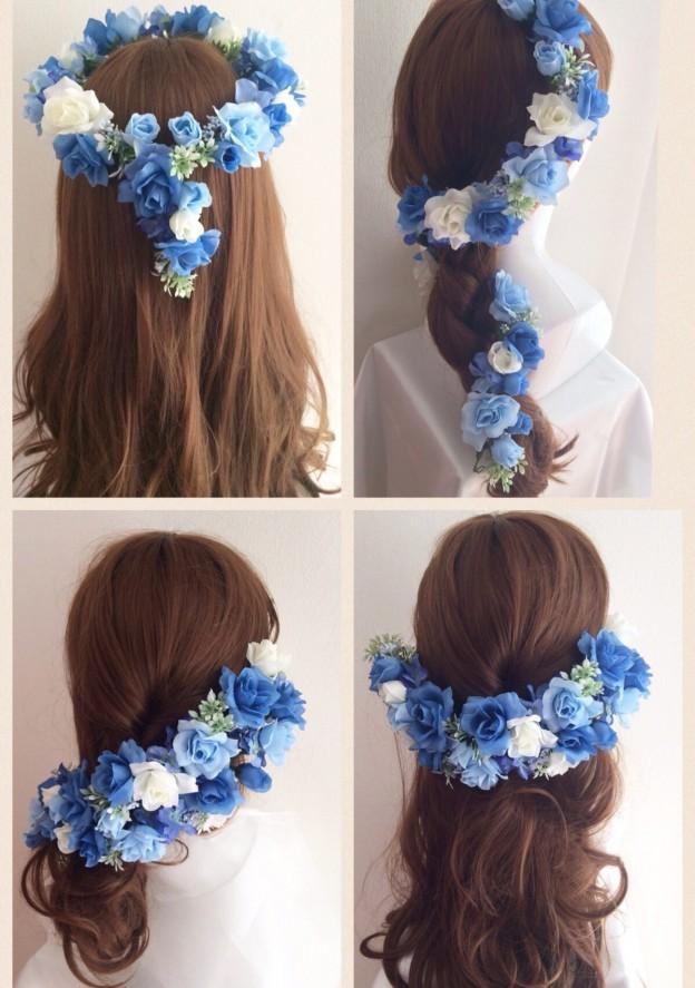花冠結婚式髪型ヘアスタイル