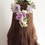 パープル花かんむり花尾