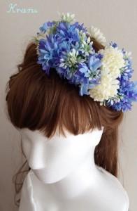 花冠青いセントーレアサイドアップ