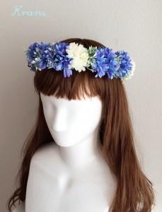 花冠青いセントーレア左