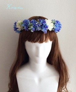 花冠青いセントーレア正面