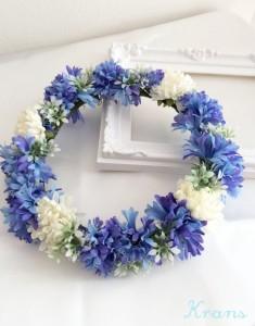 花冠青いセントーレアアップ