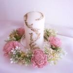 花かんむりピンクキャンドル