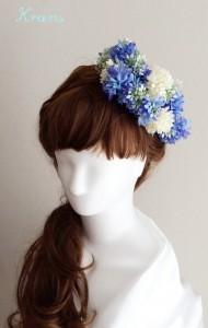 花冠青いセントーレア横のせ