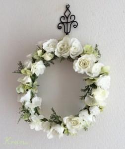 白花冠リース