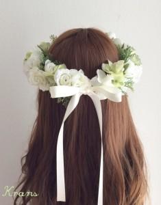 白花冠リボンバック