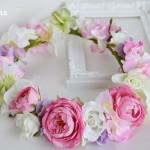 メリンダローズのピンクの花冠 全体