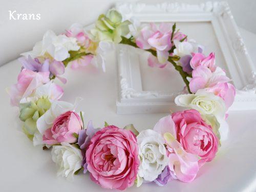 メリンダローズのピンクの花冠