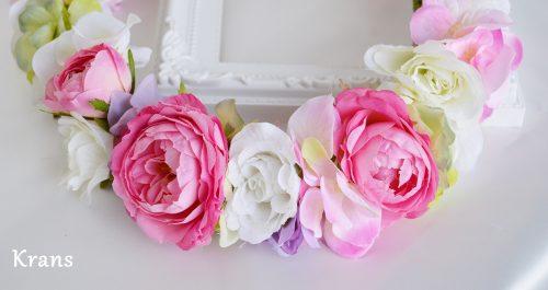 メリンダローズのピンクの花冠 アップ