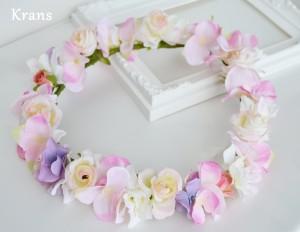 シュガーピンク・ミニバラの花冠2