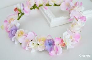 シュガーピンク・ミニバラの花冠3