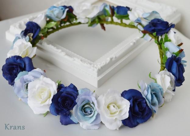 青いグラデーション花冠1