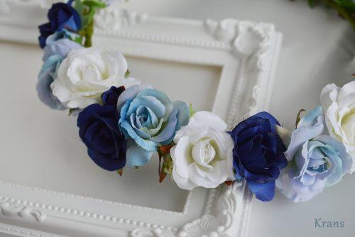 青いグラデーション花冠 アップ