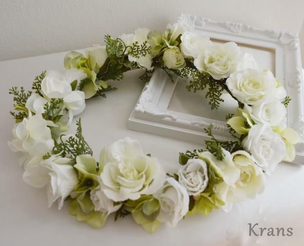 白バラ花冠