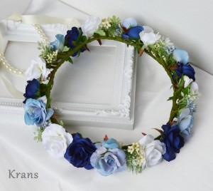 【オーダー花冠】青いバラの花冠