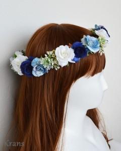ブルーローズの花冠をかぶった花嫁5