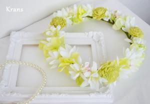 海外ウェディングにおすすめの花冠パール