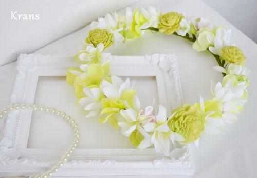 海外ウェディングにおすすめの花冠