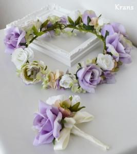 アンティークローズのウェディング花冠 セット