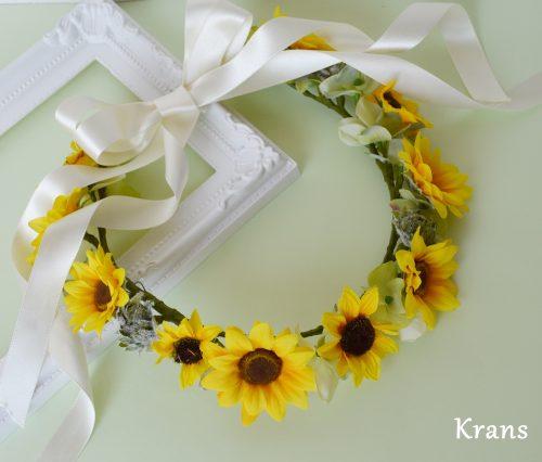 SummerSale:サマーウェディングにひまわりの花冠