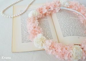 プリザーブドフラワーアナベルの天使の花冠アンティーク