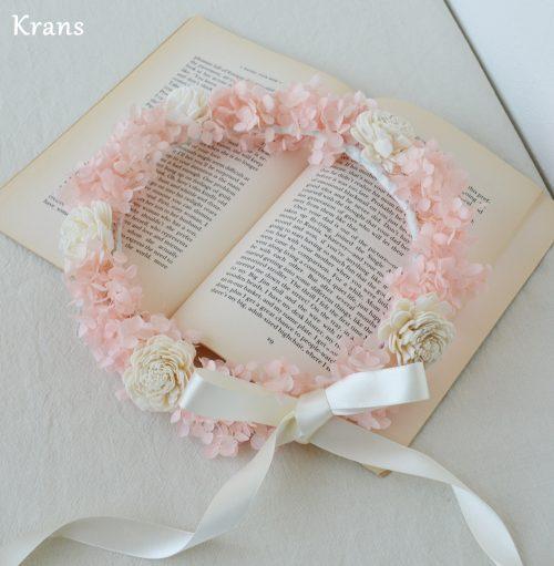 プリザーブドフラワーアナベル花冠アンティーク