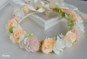 オーダーブライダルピンクの花冠2
