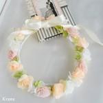 オーダーブライダルピンクの花冠1