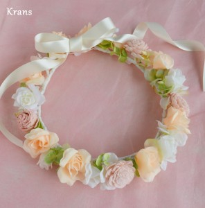 オーダーブライダルピンクの花冠