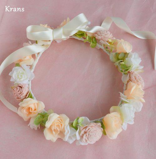 【オーダー花冠】ブライダルピンクの花冠