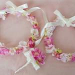 桜桃の花冠ピンク4親子おそろい