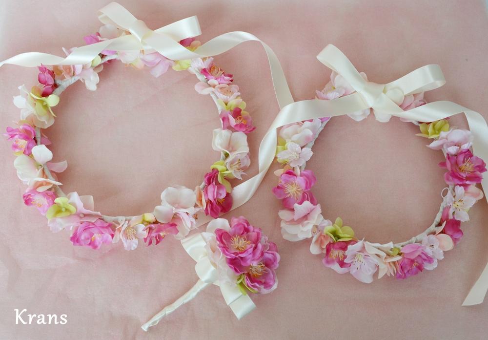 オーダー花冠ピンク4