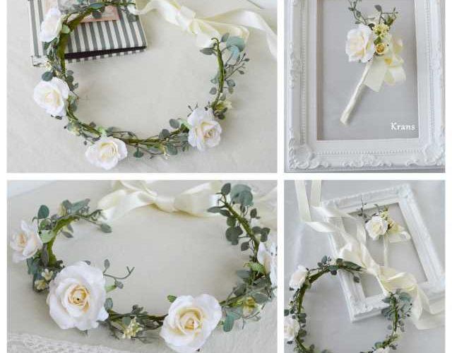 結婚式におすすめのナチュラル花冠