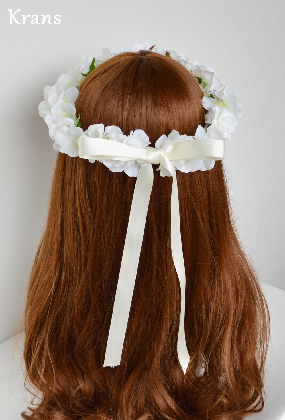 ふんわりかわいい白い花冠バック1