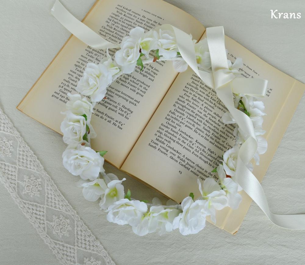ふんわりかわいい白い花冠4