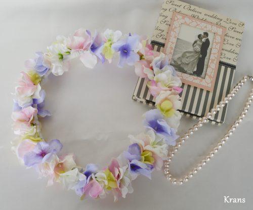 フェアリーカラーのパステル花冠