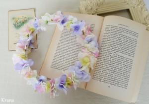 フェアリーカラーのパステル花冠 ナチュラル
