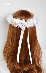 フェアリーカラーのパステル花冠リボン
