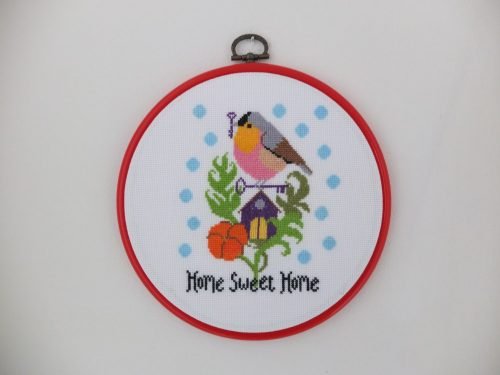 """【スウェーデンハンドメイド  """"クロスステッチ Sweet Home""""】"""