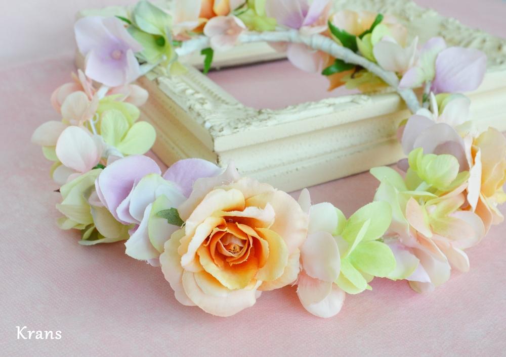ふわふらパステルのドレスにぴったりの花冠4