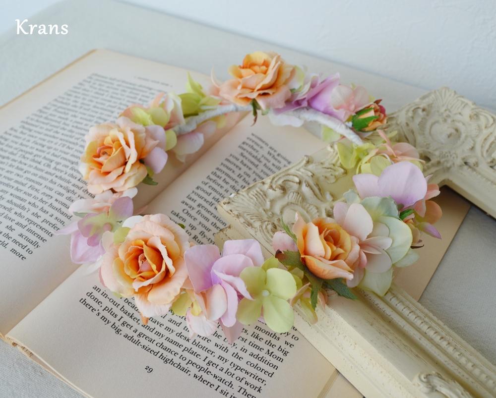 ふわふらパステルのドレスにぴったりの花冠3