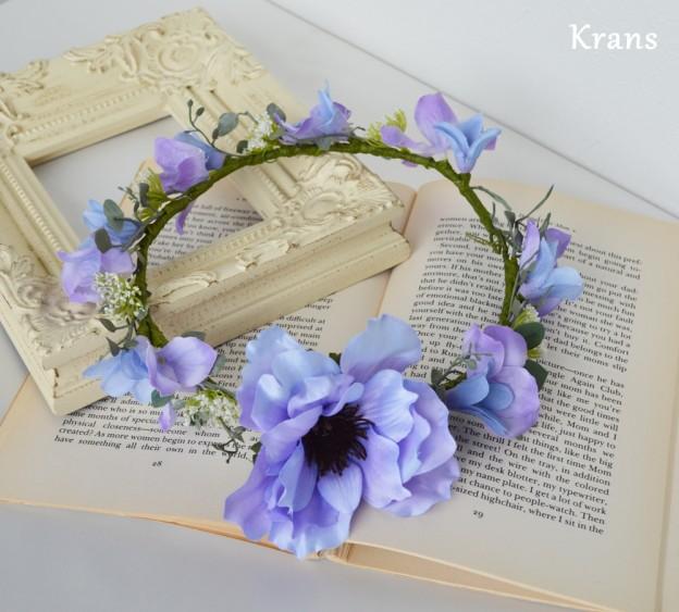 アネモネパープル結婚式花冠