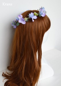 アネモネブルーパープル結婚式花冠6
