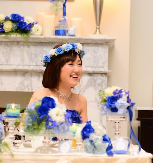 ウェディングフォト、結婚式花冠
