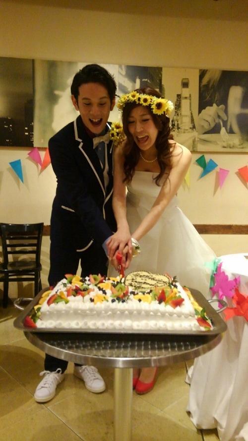 黄色いひまわり結婚式花冠1