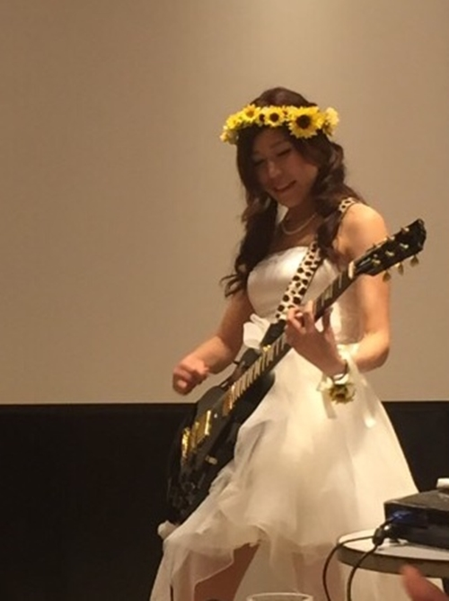 ひまわりかわいい結婚式の花冠6